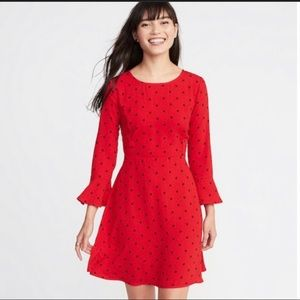 Old Navy Red Polka Dot Dress